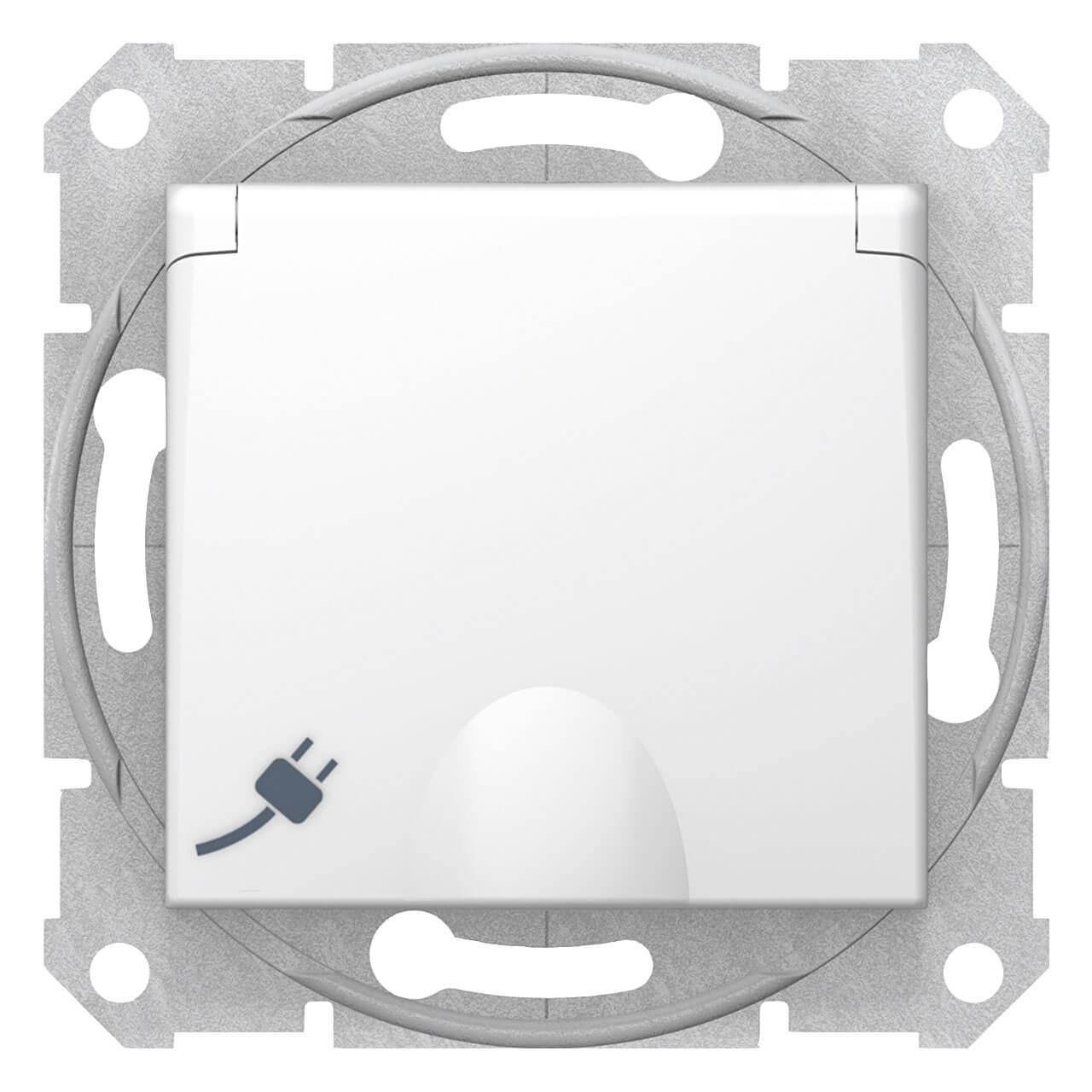 Розетка Schneider Electric Sedna с з/к со шторками и крышкой 16A 250V SDN3100421