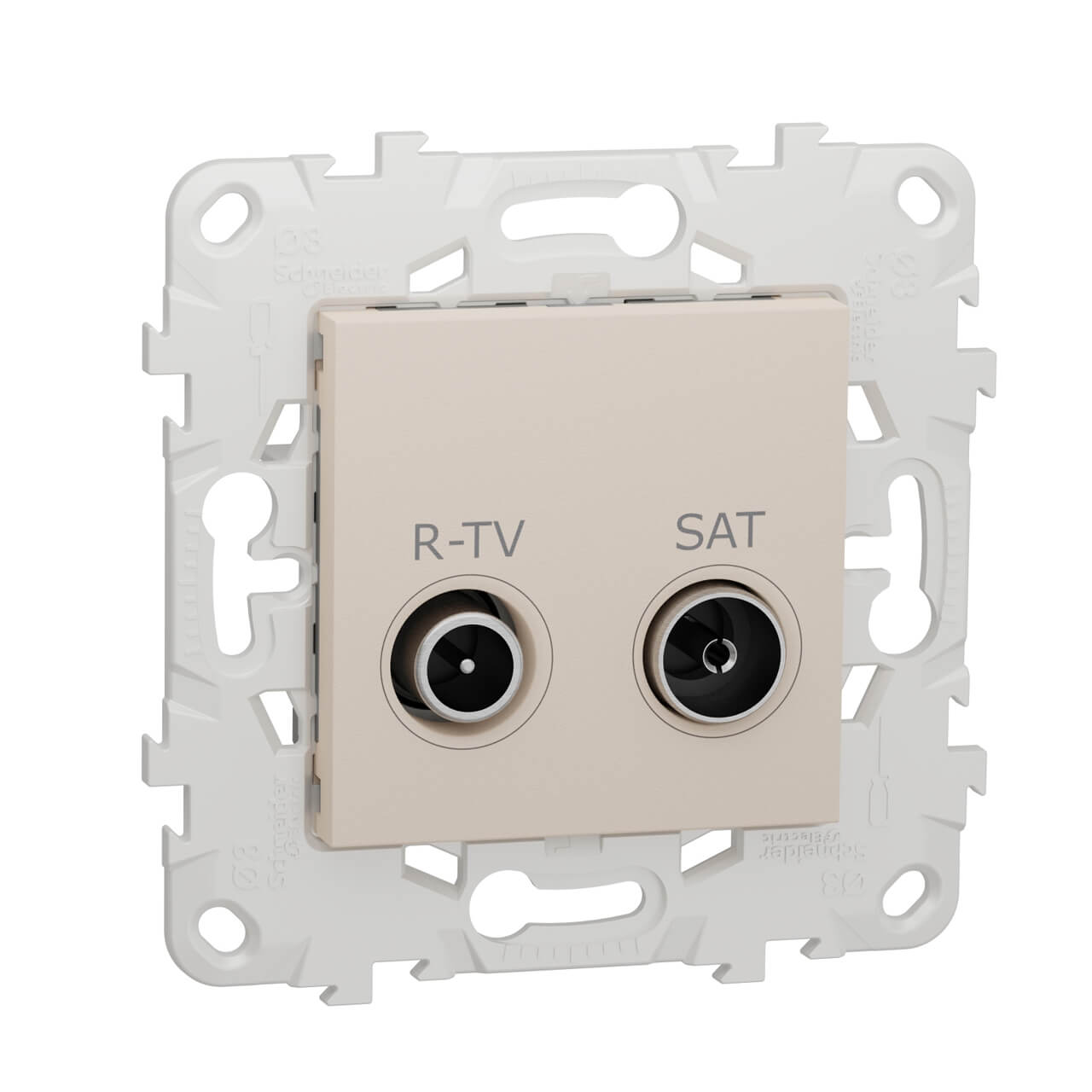 Розетка R-TV/SAT одиночная Schneider Electric Unica New NU545444