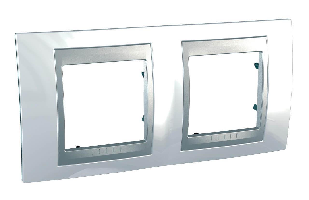Рамка 2-постовая Schneider Electric Unica Top MGU66.004.092 рамка 2 постовая schneider electric unica top mgu66 004 2m2