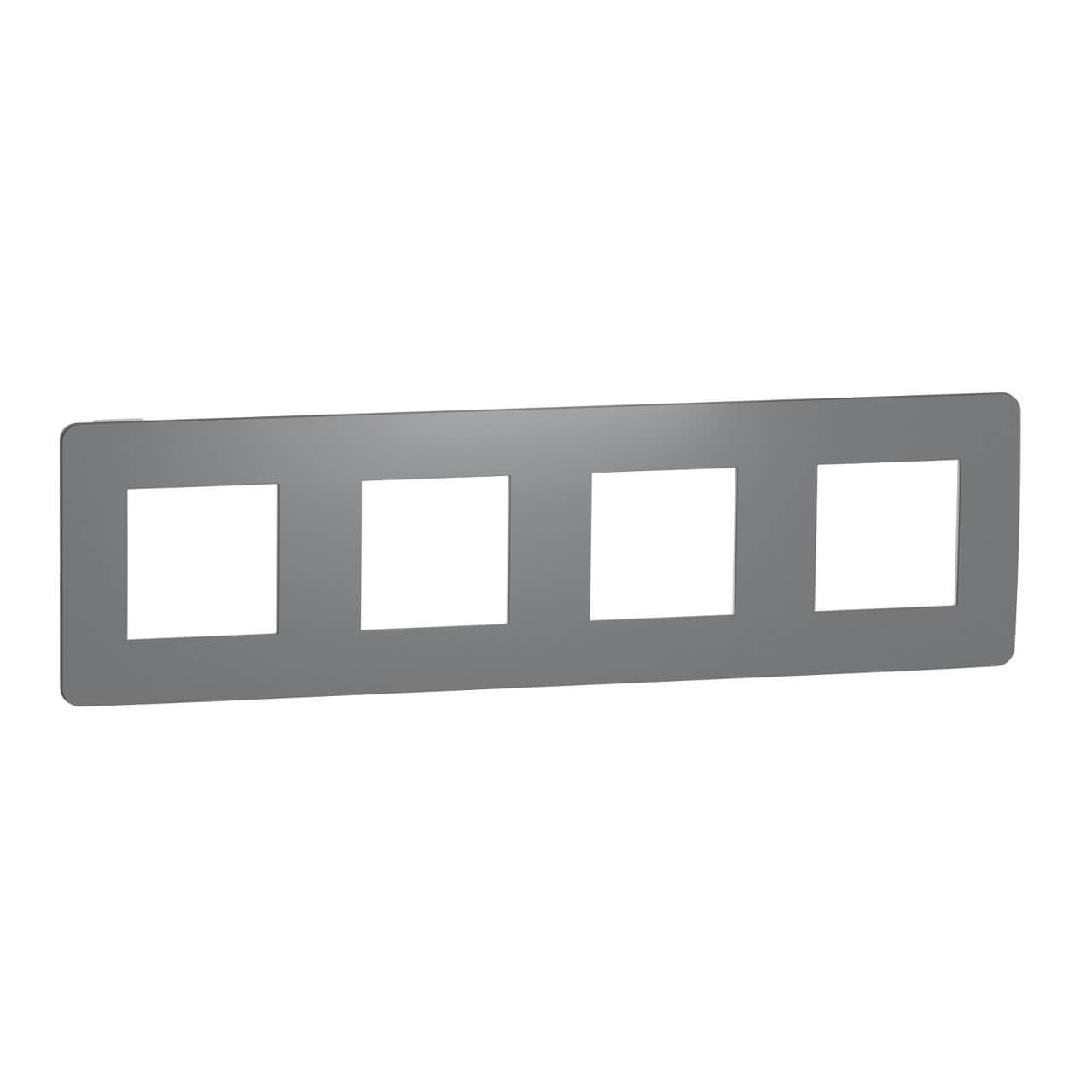 Рамка 4-постовая Schneider Electric Unica New Studio NU280821