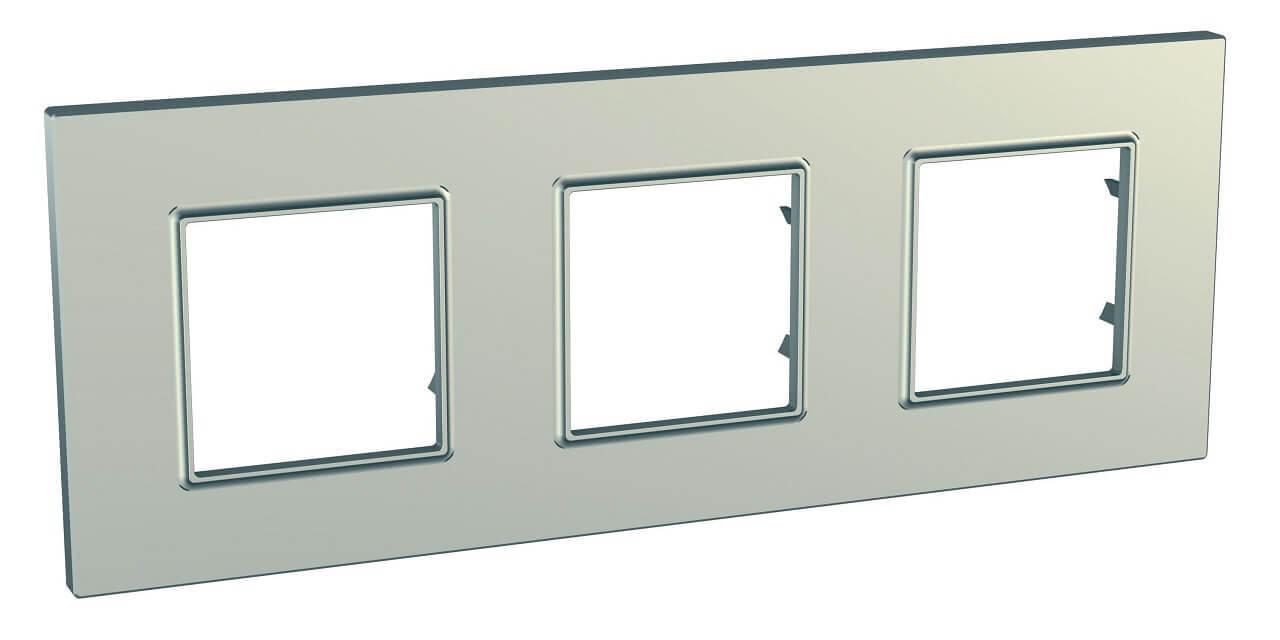 Рамка Schneider Electric MGU6.706.57 Unica Quadro (Подходит под механизмы Unica, Хамелеон, Quadro)