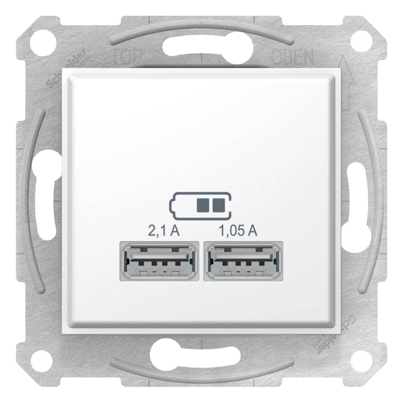 Розетка компьютерная 2xUSB Schneider Electric Sedna 2,1A SDN2710221