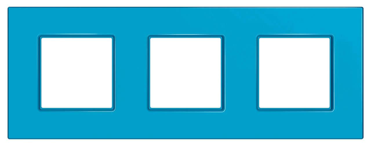 Рамка 3-постовая Schneider Electric Unica Quadro MGU4.706.26 рамка 2 пост киви schneider electric unica quadro mgu4 704 28
