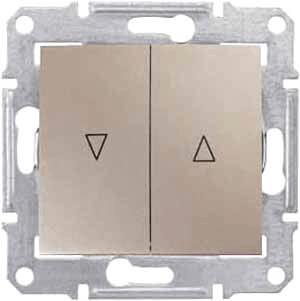 цены Выключатель для жалюзи злектрическая блокировка Schneider Electric Sedna SDN1300168