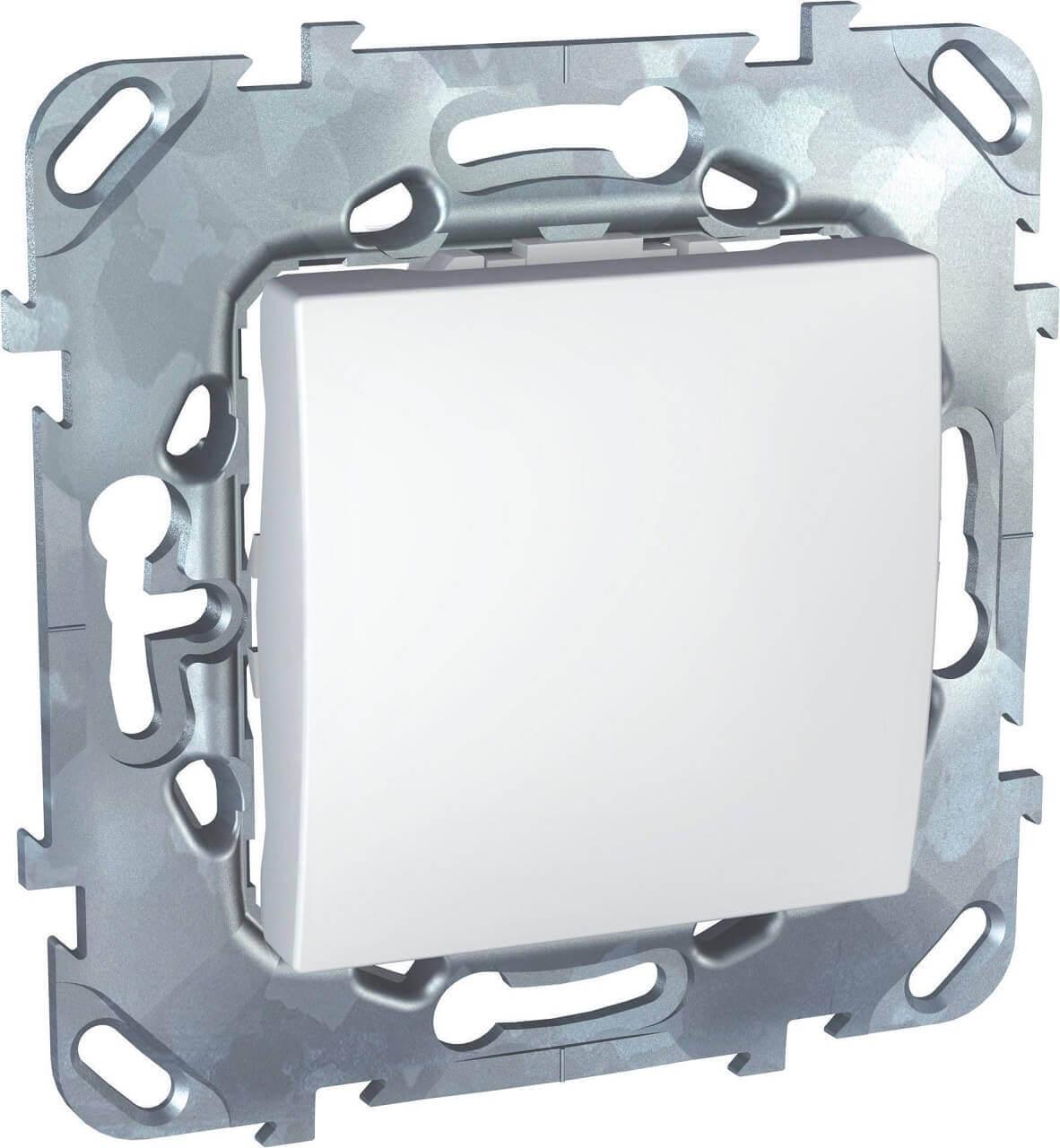 Выключатель одноклавишный кнопочный Schneider Electric Unica MGU5.206.18ZD schneider одноклавишный кнопочный выключатель unica с подсветкой графит