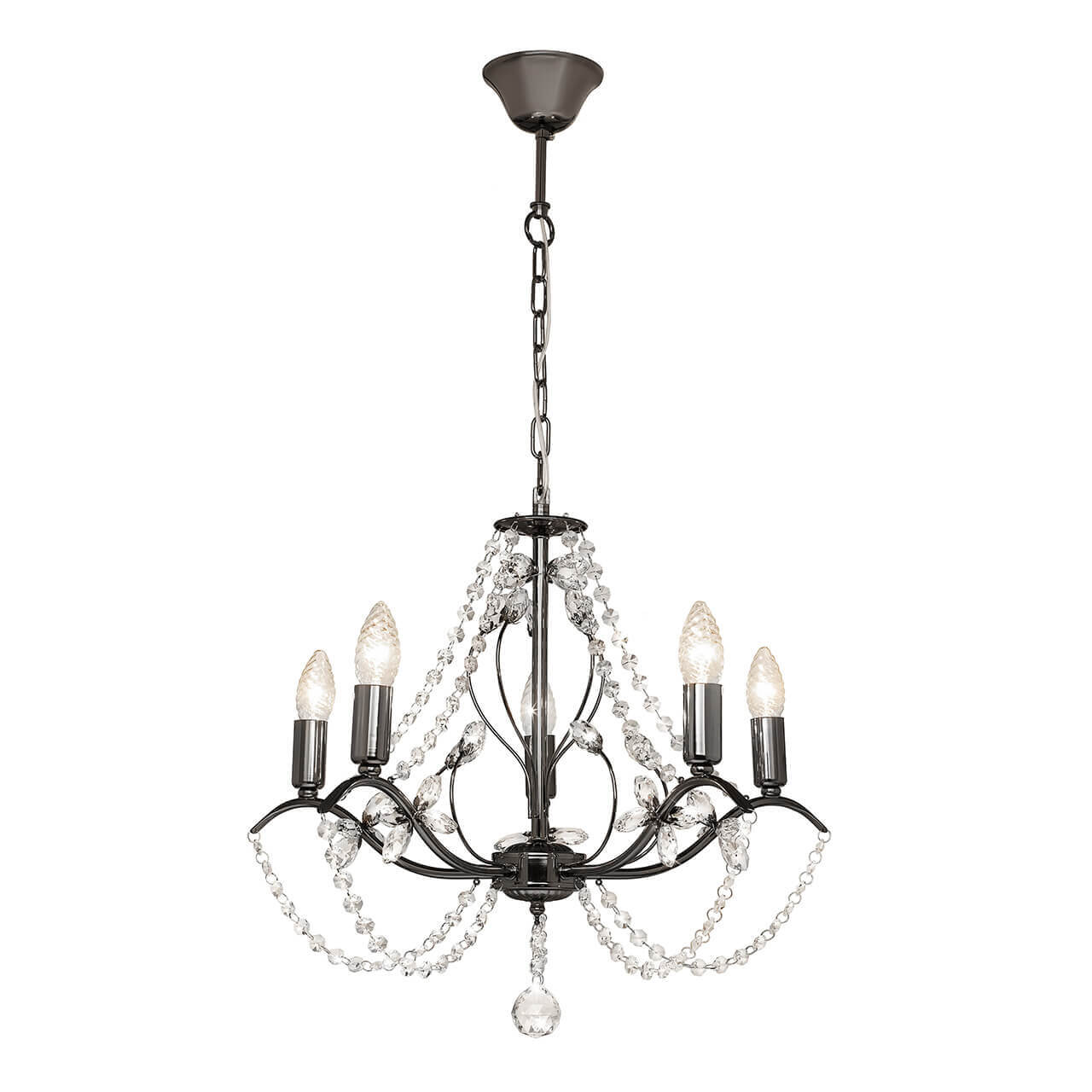 Люстра Silver Light 726.59.5 Antoinette Black бра silver light 726 48 1 antoinette