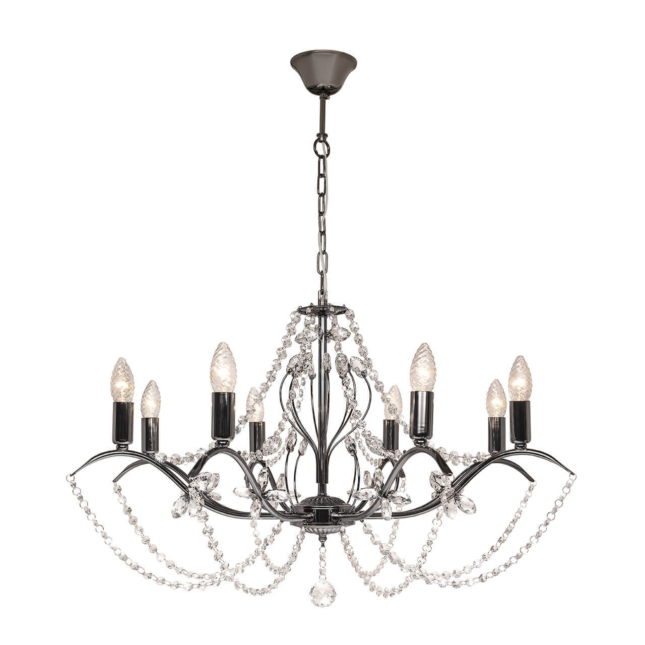 Люстра Silver Light 726.59.8 Antoinette Black бра silver light 726 48 1 antoinette