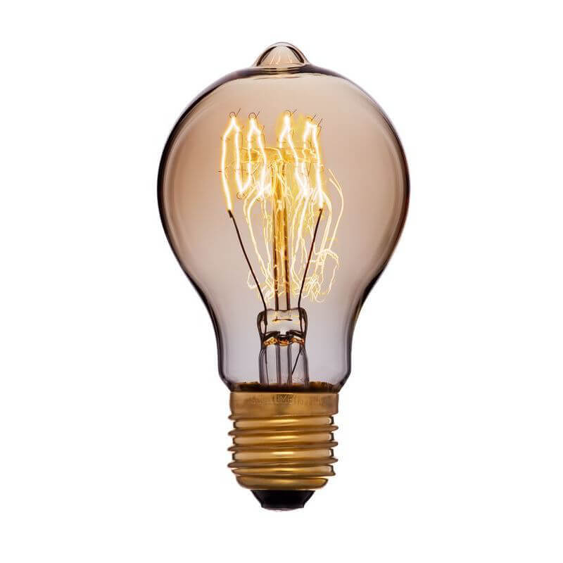 цена на Лампа накаливания E27 40W золотая 051-866