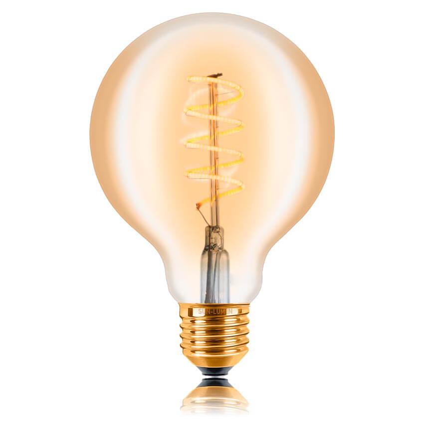 цена на Лампа светодиодная филаментная диммируемая E27 4W 2200K золотой 056-984