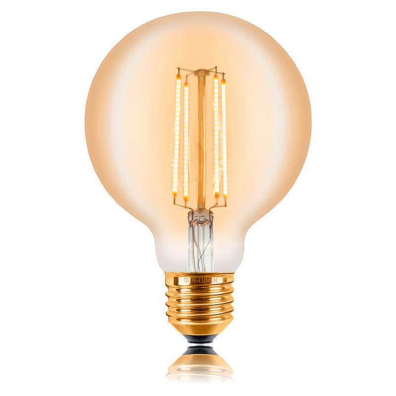 цена на Лампа светодиодная филаментная E27 4W 2200K золотая 057-318
