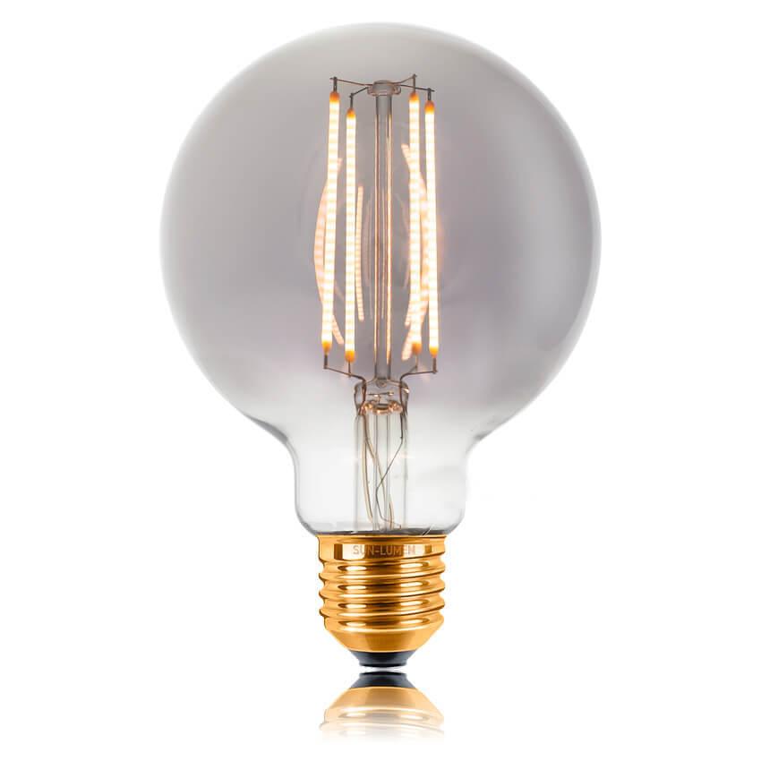 цена на Лампа светодиодная филаментная E27 4W 2200K дымчатая 057-325