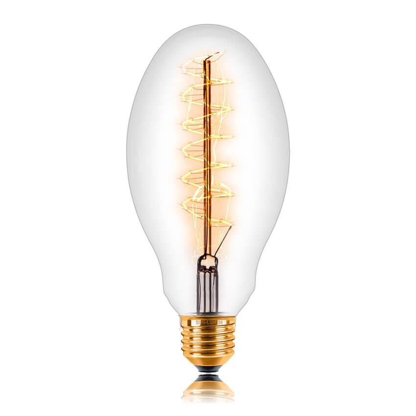 купить Лампа накаливания E27 60W прозрачная 053-686 по цене 305 рублей