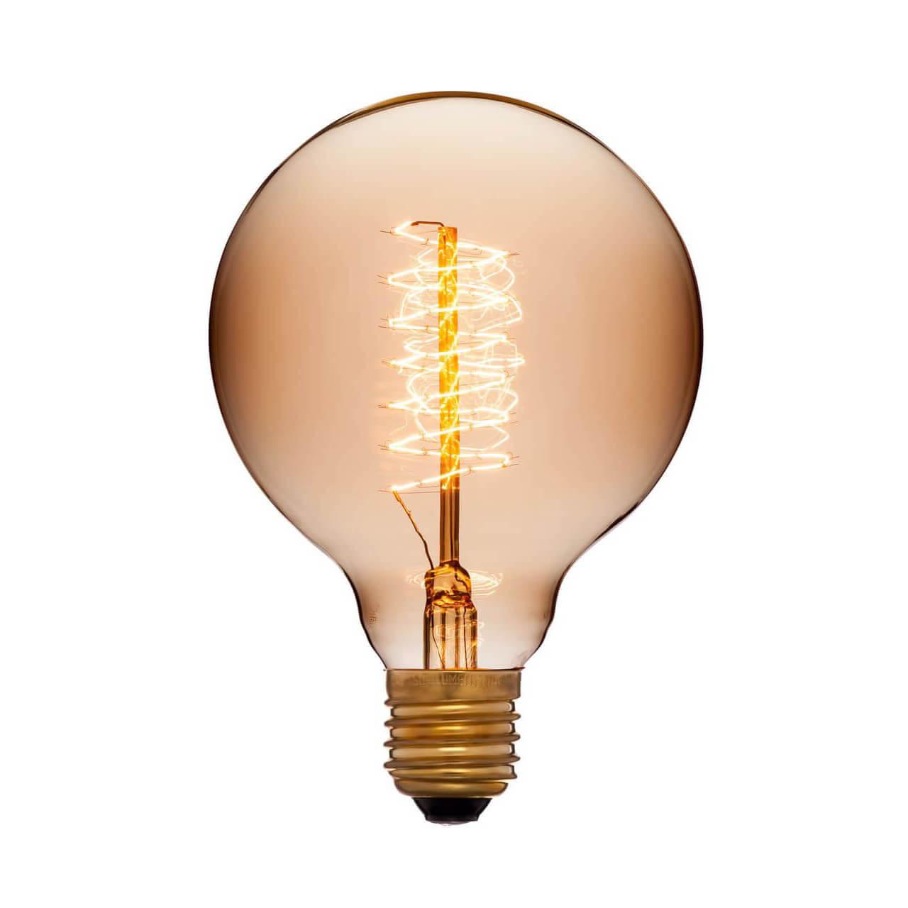 купить Лампа накаливания E27 40W золотой 053-655 по цене 407 рублей