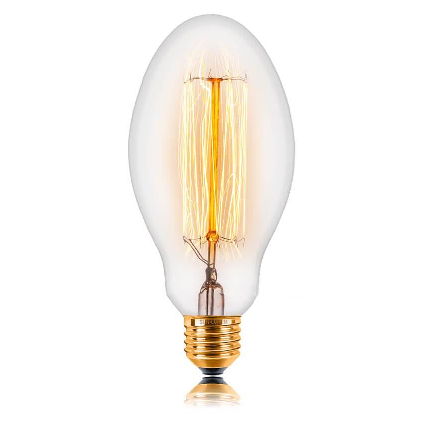купить Лампа накаливания E27 60W прозрачная 053-419 по цене 407 рублей