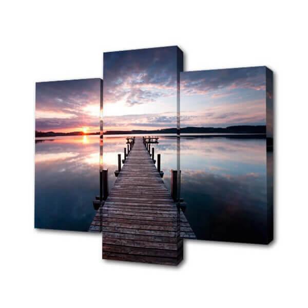 Модульная картина Мост к закату Toplight 150х100см TL-M2055 модульная картина toplight 150х100см tl m2054
