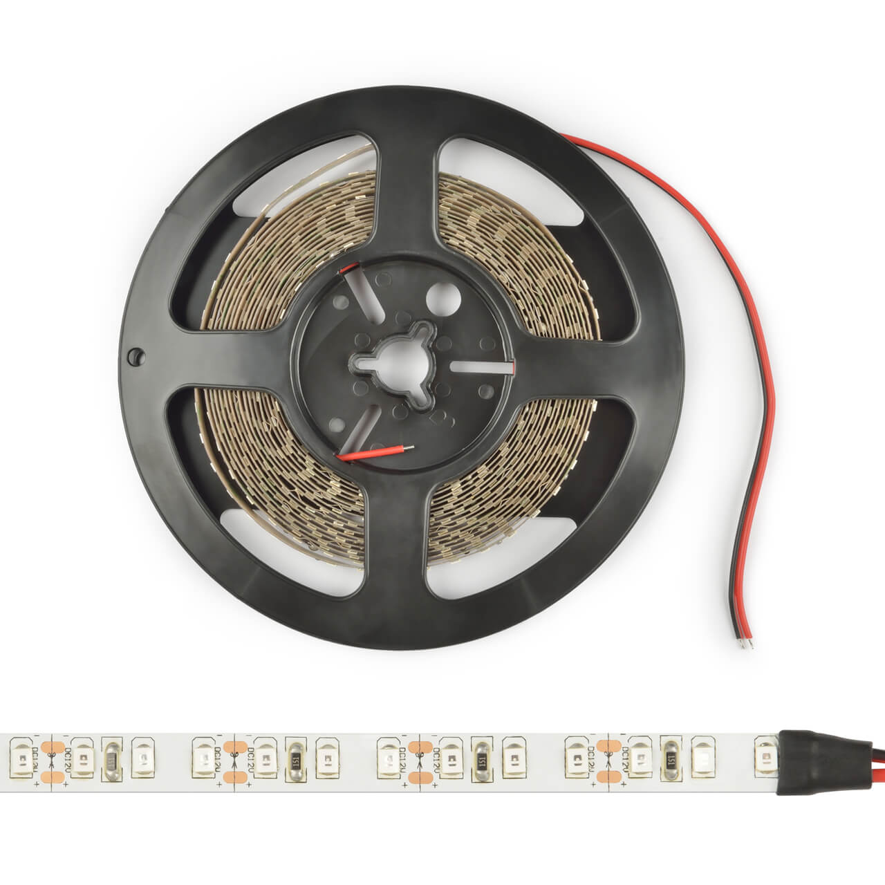 Светодиодная лента Uniel ULS-M11-2835-60LED/m-8mm-IP20-DC12V-4,8W/m-5M-4000K PROFI 12V открытые