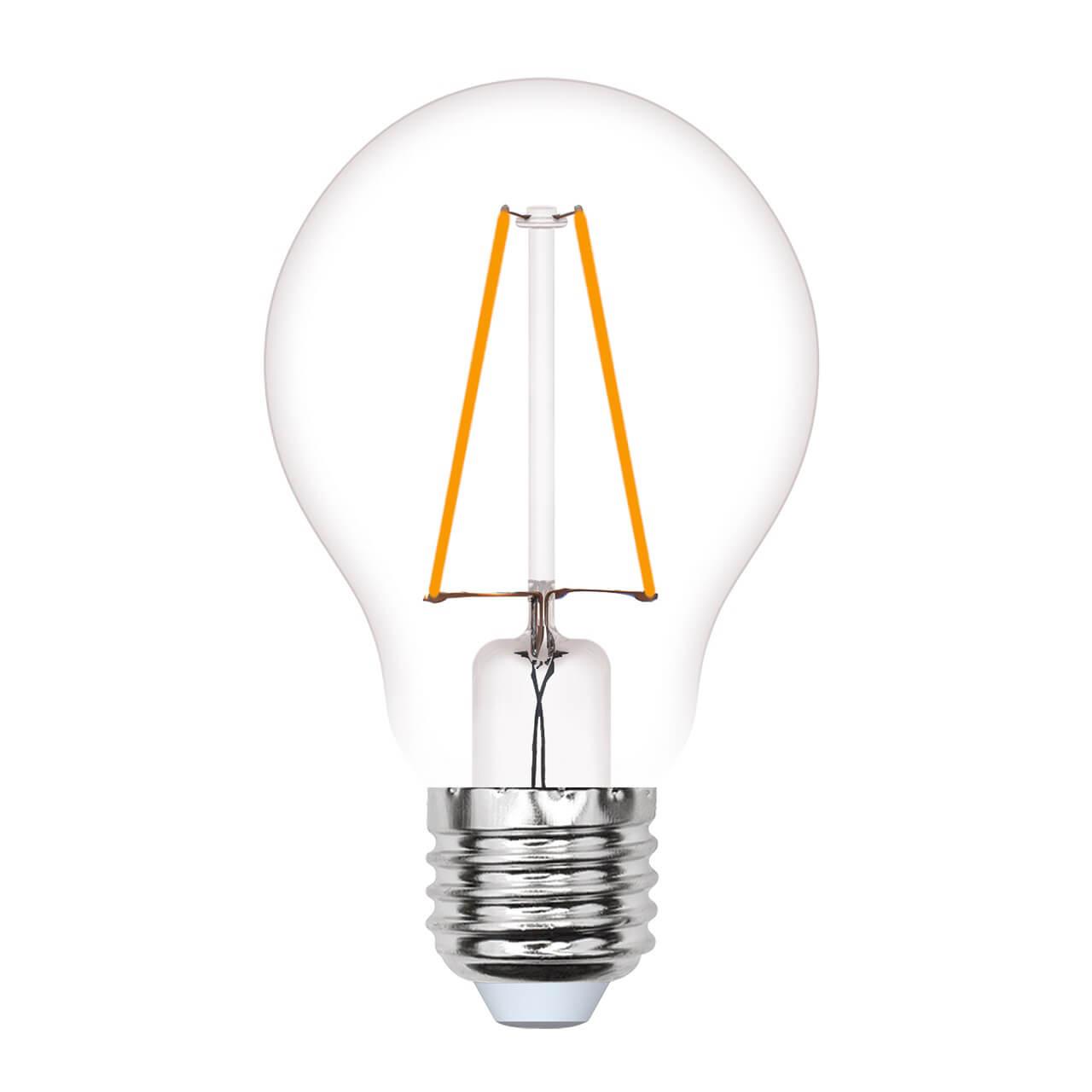 Лампа светодиодная филаментная (UL-00000849) E27 4W 2250K прозрачная LED-A67-4W/GOLDEN/E27 GLV21GO