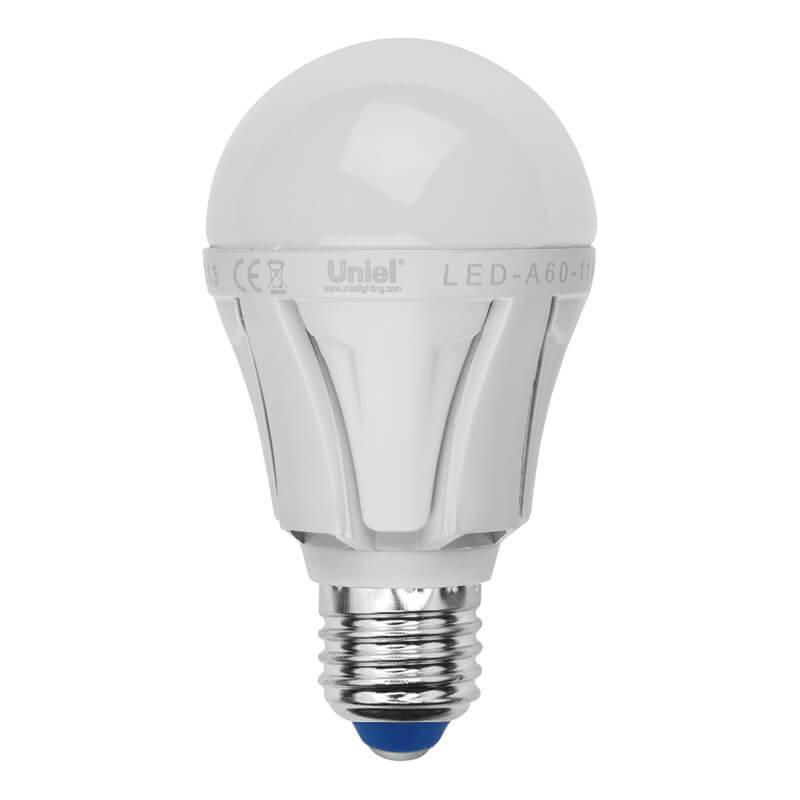Лампа светодиодная (07887) Uniel E27 9W 3000K матовая LED-A60-9W/WW/E27/FR ALP01WH цена в Москве и Питере