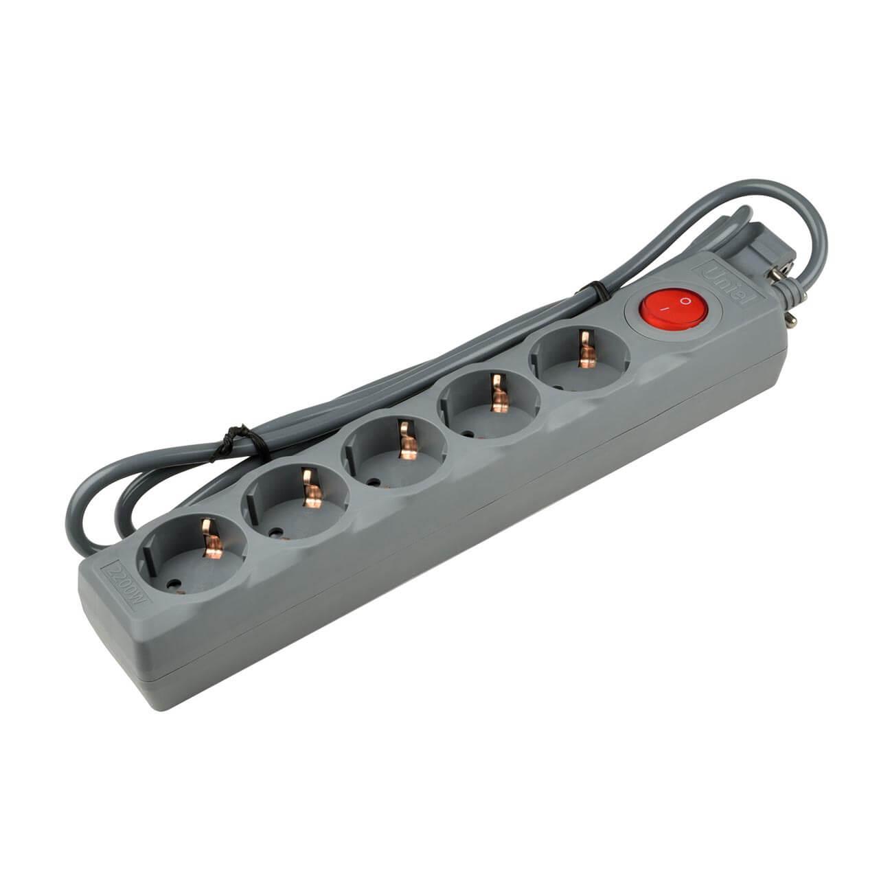 Сетевой фильтр Uniel S-GSU5-1,5 Grey Universal
