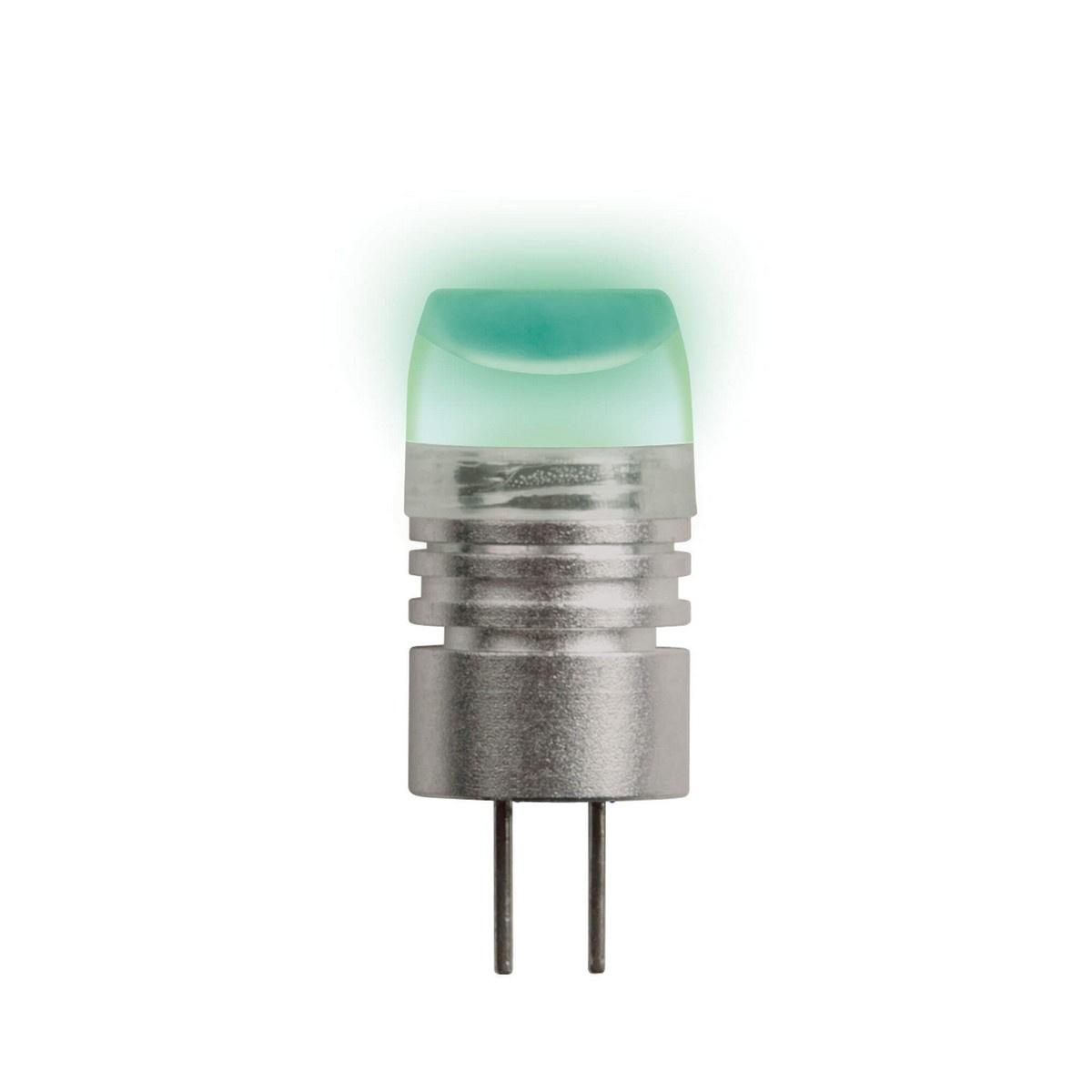 Лампа светодиодная (05858) G4 0,8W прозрачная LED-JC-12/0,8W/GREEN/G4 uniel лампа галогенная uniel капсула прозрачная g4 35w jc 220 35 g4 cl 02585