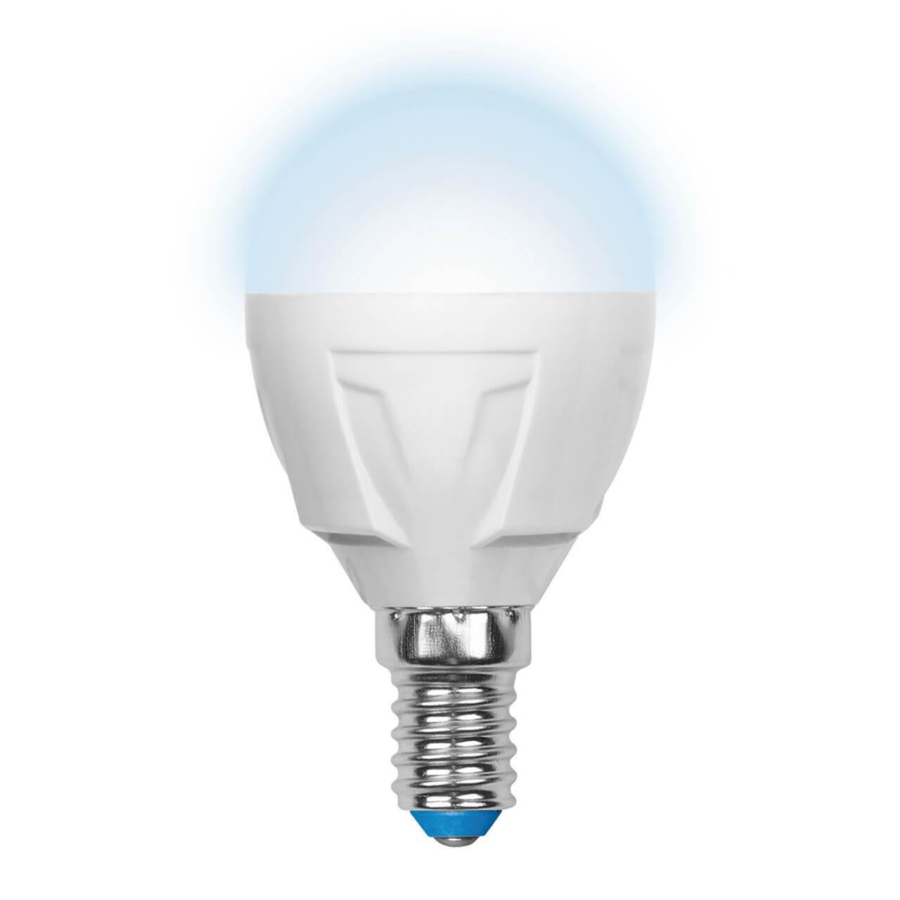 цена на Лампочка Uniel LED-G45-6W/NW/E14/FR/DIM PLP01WH Palazzo Dim Globe (Диммирование)