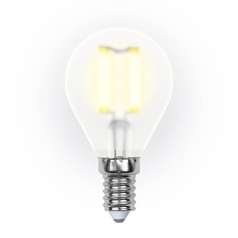 цены Лампочка Uniel LED-G45-6W/WW/E14/FR PLS02WH SKY Globe