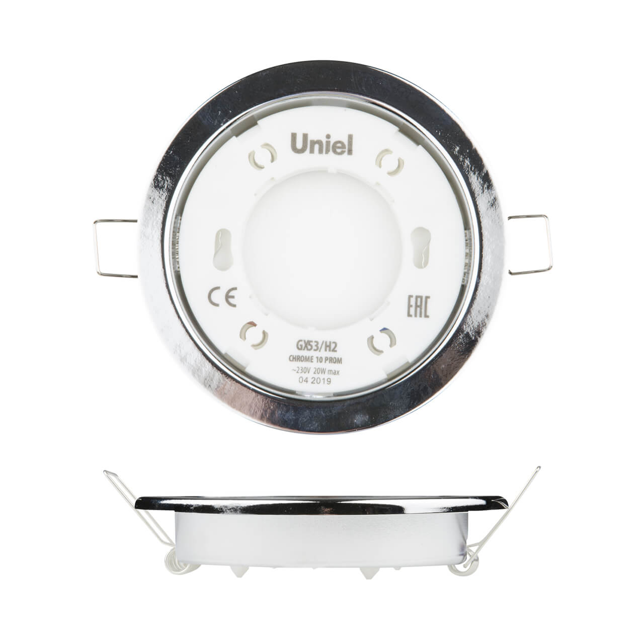 Встраиваемый светильник (UL-00005052) Uniel GX53/H2 Chrome 10 Prom цены