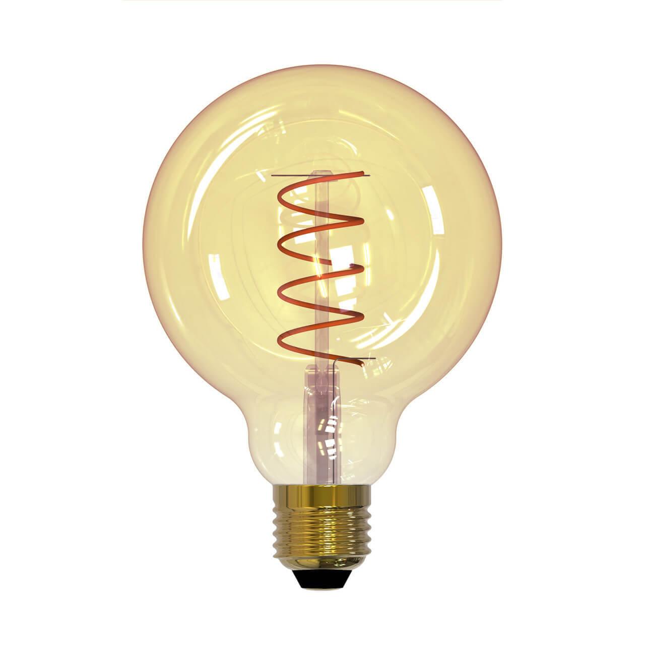 Лампа светодиодная (UL-00001818) E27 4W 2250K прозрачная LED-G95-4W/GOLDEN/E27/CW GLV21GO