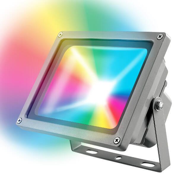 Прожектор Uniel ULF-S01-30W/RGB/RC IP65 110-240В уличный светодиодный светильник ul 00003301 uniel ulg r001 020 rgb ip65 ball