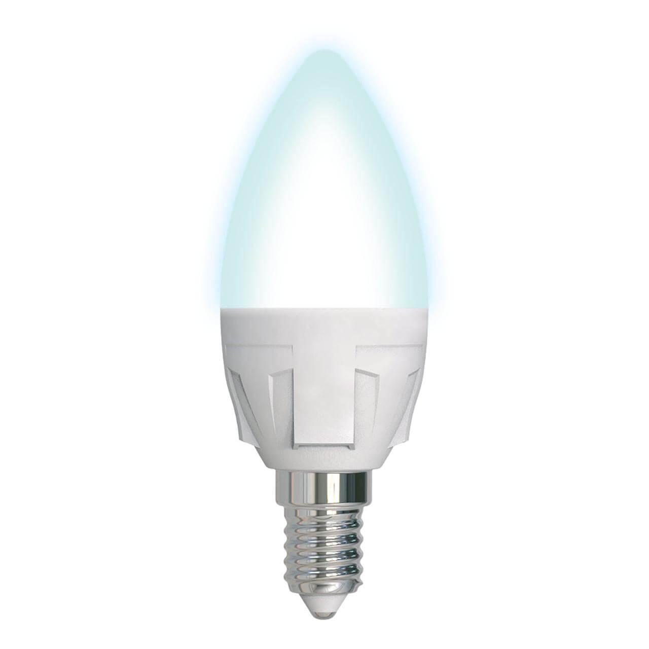 Лампочка Uniel LED-C37 7W/4000K/E14/FR/DIM PLP01WH Яркая (Диммирование)
