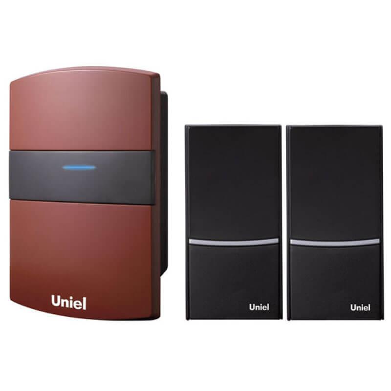цена на Звонок Uniel UDB-004W-R1T2-32S-100M-RD 1 звонок + 2 кнопки