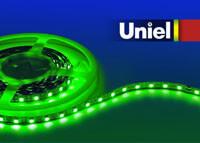 цена на Светодиодная лента Uniel (04795) 4,8W/m 60LED/m 3528SMD зеленый 5M ULS-3528-60LED/m-8mm-IP20-DC12V-4,8W/m-5M-GREEN