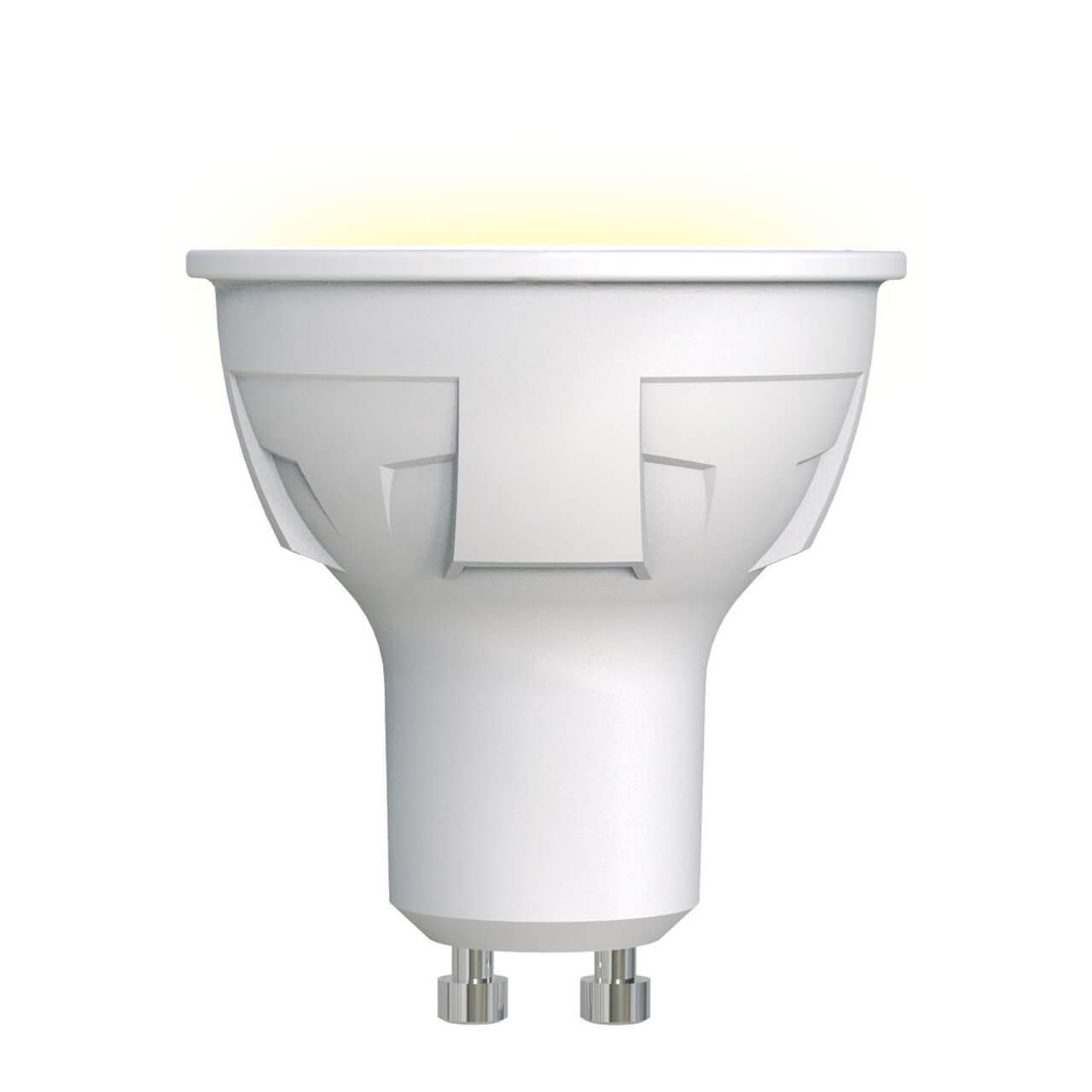 Лампа светодиодная (UL-00002423) Uniel GU10 6W 3000K матовая LED-JCDR 6W/WW/GU10/FR PLP01WH