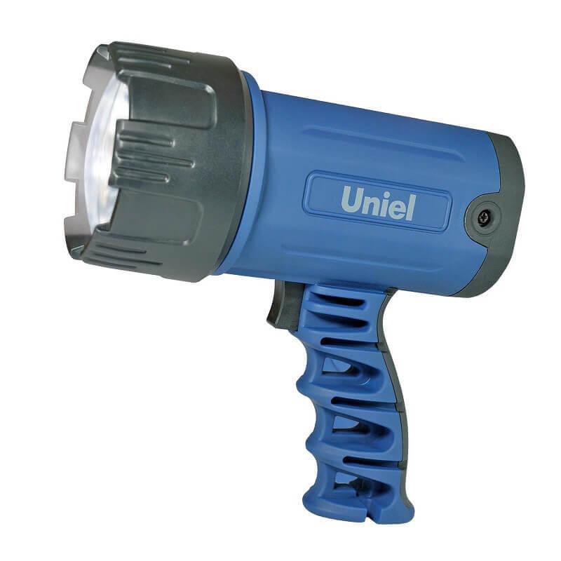 Фонарь-прожектор светодиодный (03488) Uniel аккумуляторный 150 лм S-SL010-BA Blue