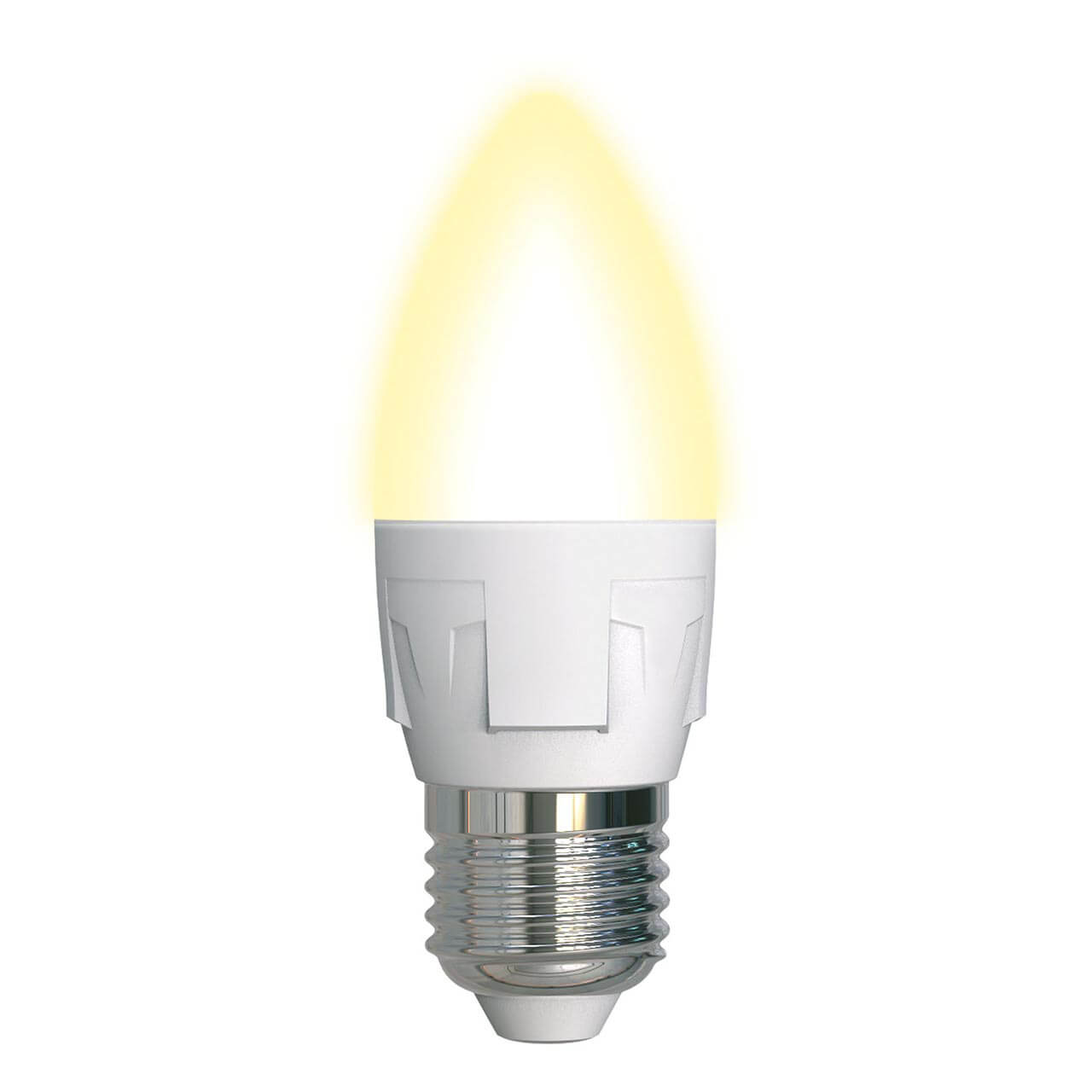 Фото - Лампочка Uniel LED-C37 7W/3000K/E27/FR/DIM PLP01WH Яркая (Диммирование) светодиодная лампа светильник uniel led u270 60w 3000k e27 fr plu01wh