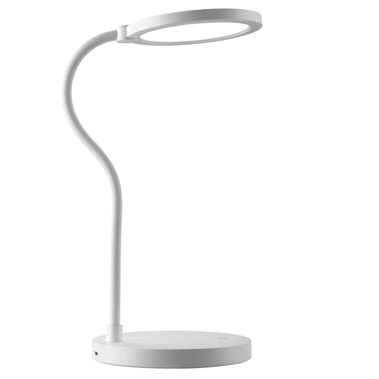 Настольная лампа Uniel TLD-553 White/LED/400Lm/4500K/Dimmer/USB TLD-553 (Сенсорное управление) настольная лампа uniel tld 524 black led 500lm 4500k dimmer tld 524 сенсорное управление
