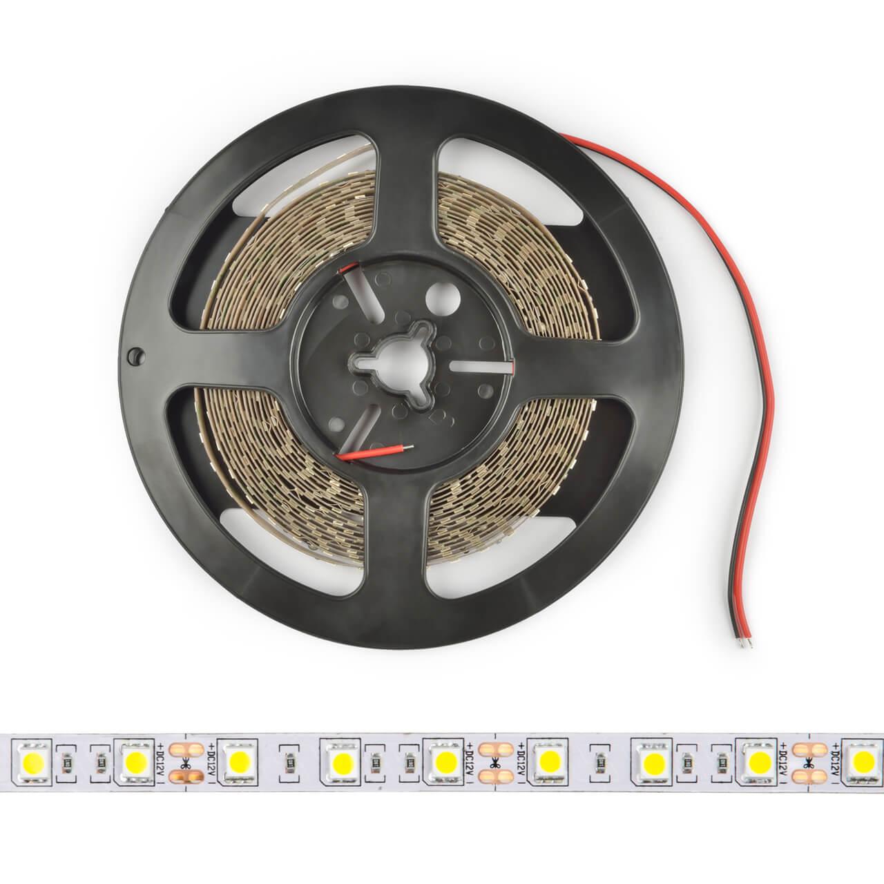 купить Светодиодная лента (UL-00004375) Uniel 14,4W/m 60LED/m 5050SMD RGB 5M ULS-M25-5050-60LED/m-10mm-IP20-DC12V-14,4W/m-5M-RGB PROFI дешево