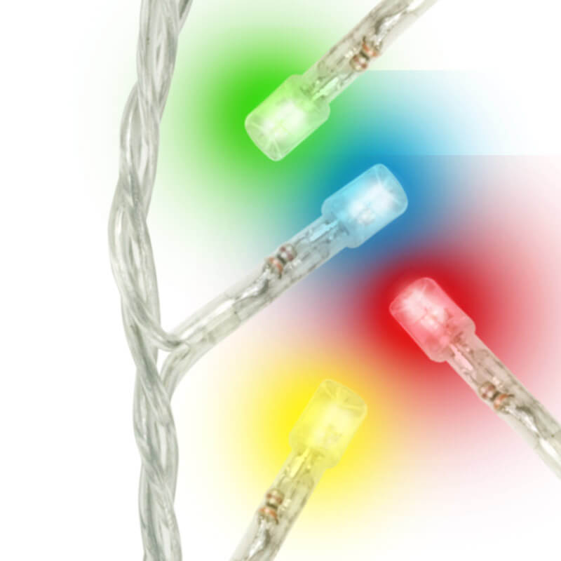 Светодиодная гирлянда (UL-00002270) Uniel бахрома 230V разноцветный ULD-B3010-200/DTA Multi IP20 цена