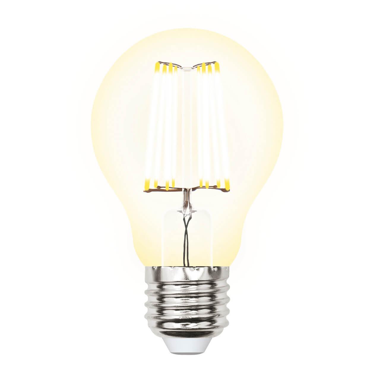 Лампа светодиодная филаментная (UL-00002625) Uniel E27 10W 3000K прозрачная LED-A60-10W/WW/E27/CL PLS02WH