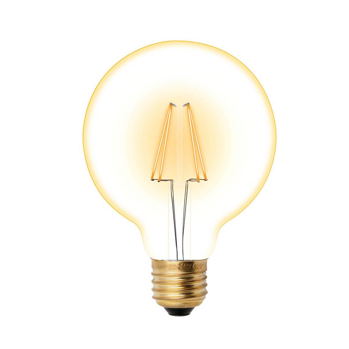 Лампочка Uniel LED-G95-6W/GOLDEN/E27 GLV21GO Vintage