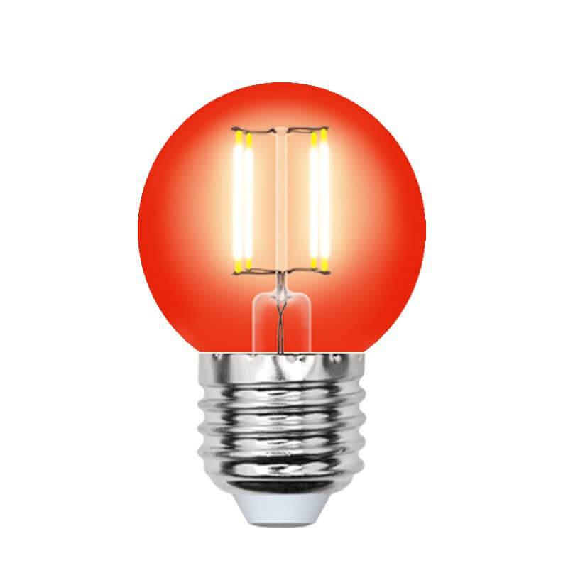 Лампочка Uniel LED-G45-5W/RED/E27 GLA02RD AIR Color