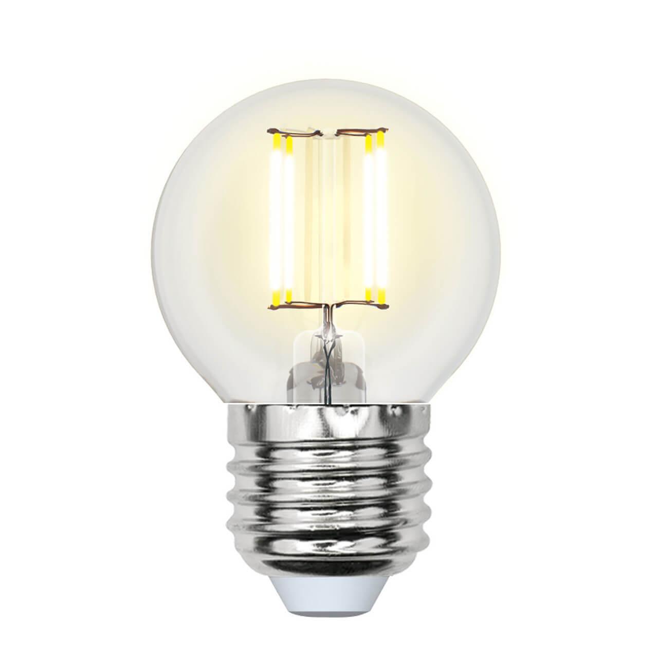 Лампочка Uniel LED-G45-6W/NW/E27/CL GLA01TR AIR G светодиодная лампа uniel air led a60 7w nw e27 cl dim gla01tr ul 00002874