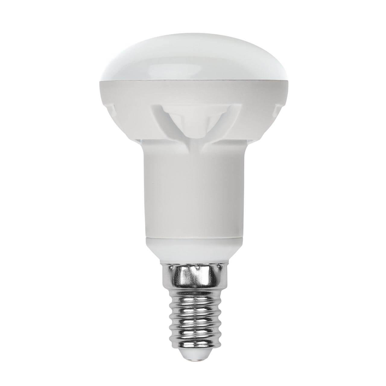 Лампа светодиодная диммируемая (UL-00004710) Uniel E14 7W 3000K матовая LED-R50 7W/3000K/E14/FR/DIM PLP01WH цена и фото