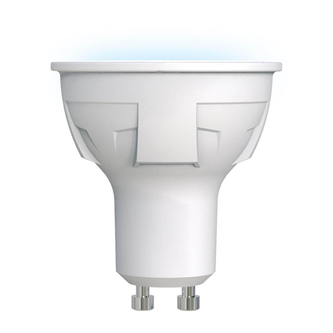 Лампа светодиодная (UL-00002421) Uniel GU10 6W 4000K матовая LED-JCDR 6W/NW/GU10/FR PLP01WH