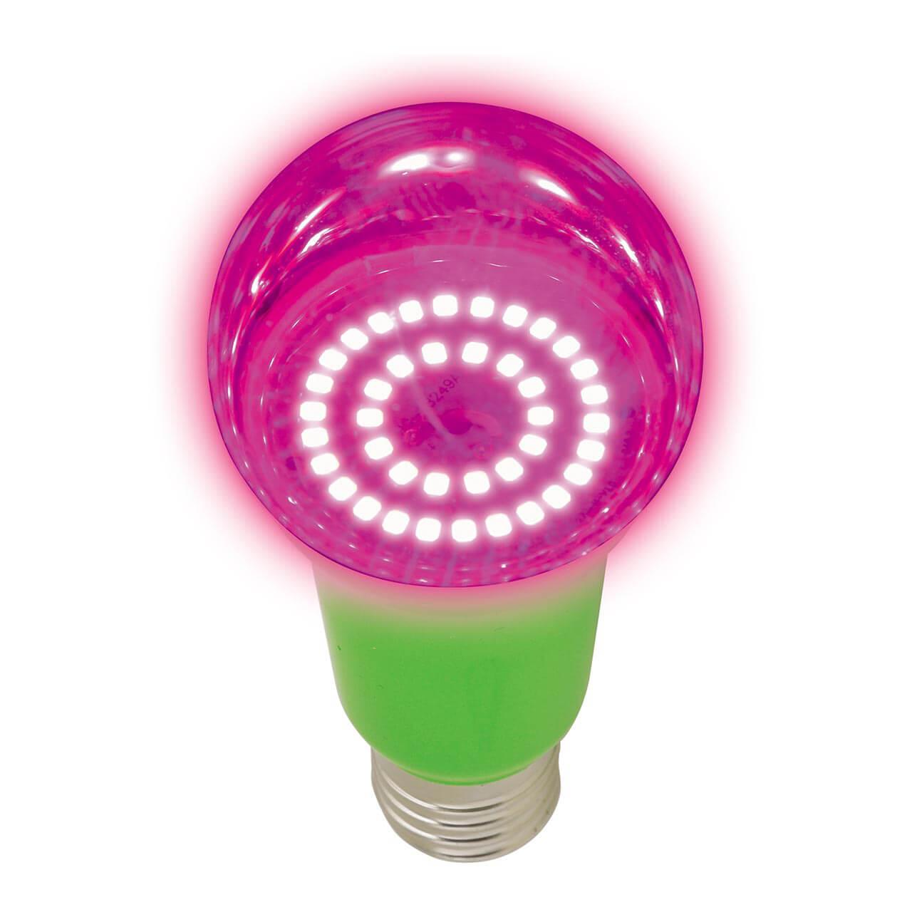 Лампочка Uniel LED-A60-8W/SPSB/E27/CL PLP30GR Для растений A лампочка uniel led a60 8w ww e27 cl sky