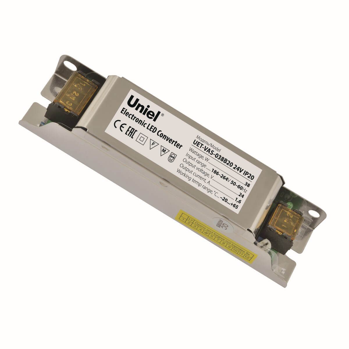 Блок питания (UL-00002427) Uniel UET-VAS-038B20 24V IP20 блок питания ul 00002433 uniel uet vas 200b20