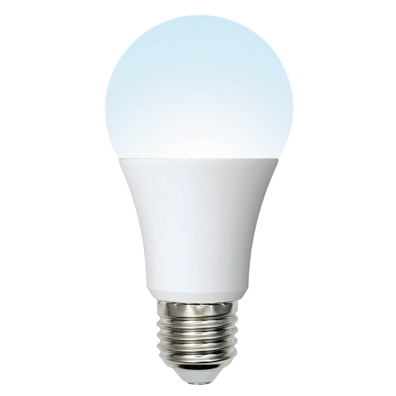 Фото - Лампочка Uniel LED-A60-10W/NW/E27/FR/12-24V PLO55WH Низковольтные лампочка uniel led a60 9w nw e27 fr alm