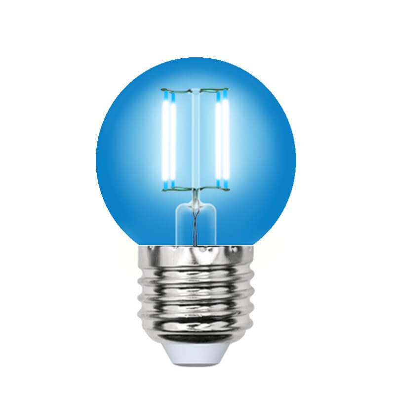 Лампочка Uniel LED-G45-5W/BLUE/E27 GLA02BL AIR Color