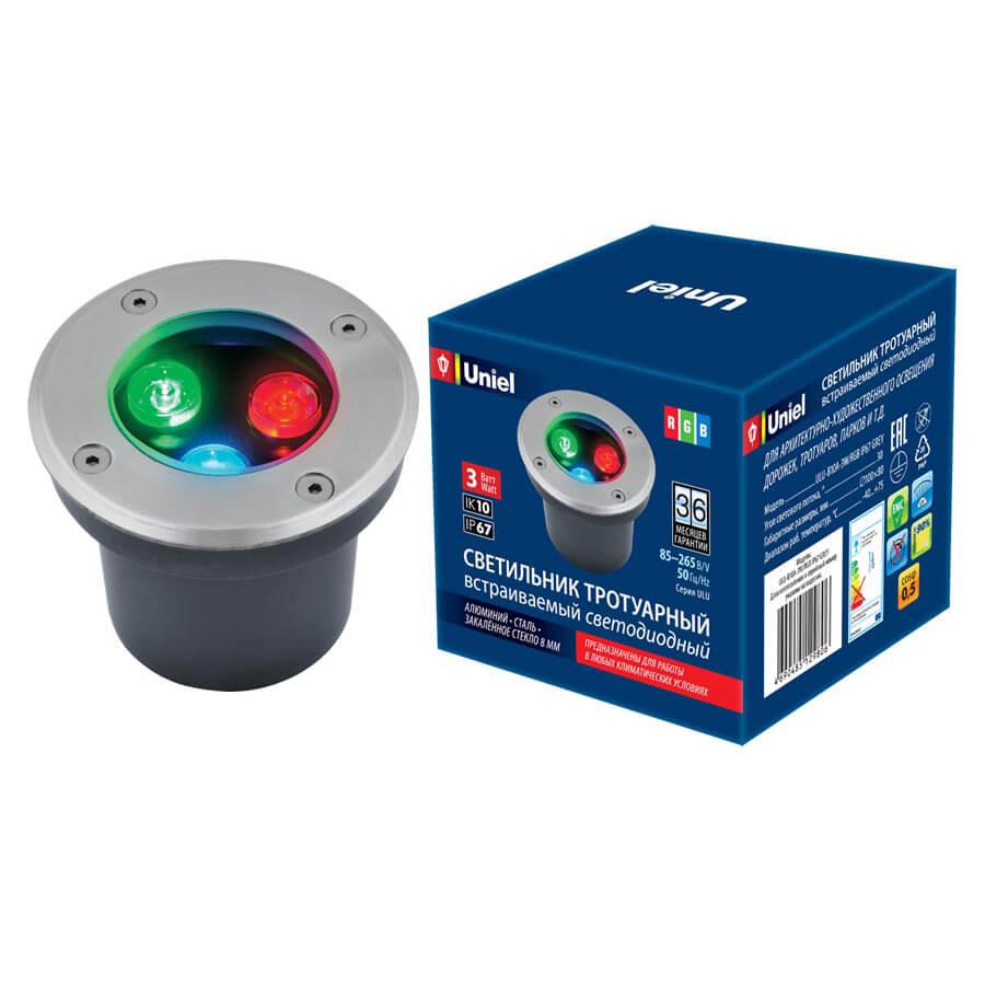 Светильник Uniel ULU-B10A-3W/RGB IP67 Grey ULU-B