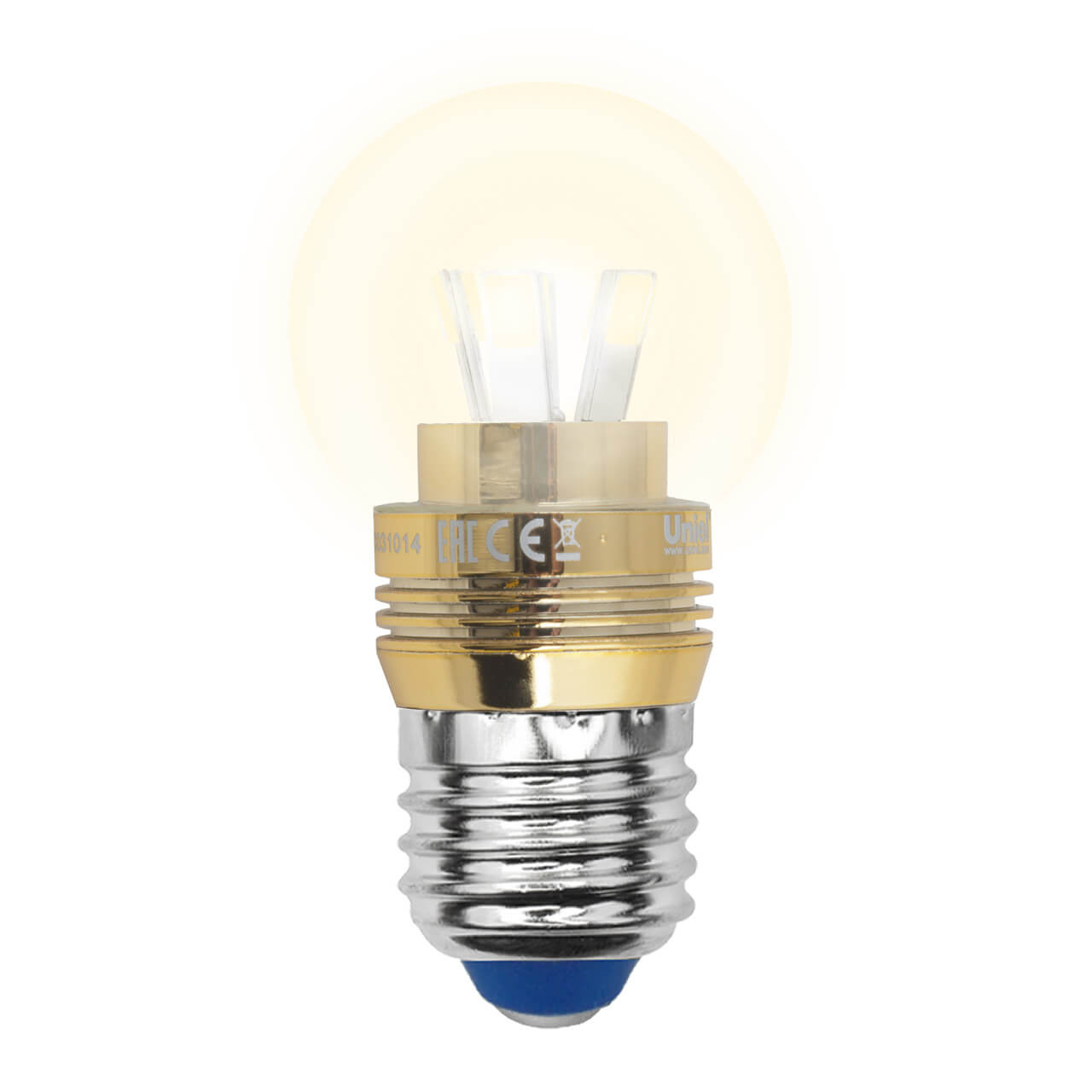 Лампа светодиодная (10063) E27 5W 3000K прозрачная LED-G45P-5W/WW/E27/CL ALC02GD